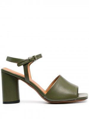 Босоножки Janna с открытым носком Clergerie. Цвет: зеленый