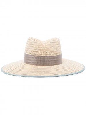 Соломенная шляпа Cindy с лентой D'ESTRËE. Цвет: нейтральные цвета