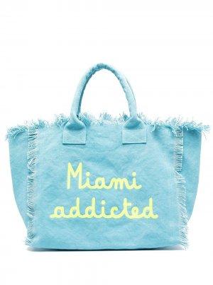 Пляжная сумка Miami Addicted Mc2 Saint Barth. Цвет: синий