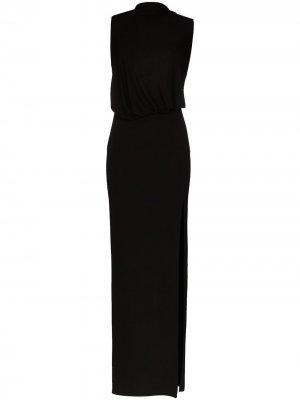 Вечернее платье с разрезом Tom Ford. Цвет: черный
