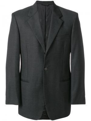 Классический пиджак Versace Vintage. Цвет: серый