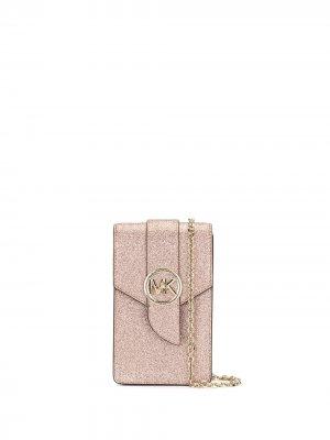 Сумка для смартфона с блестками Michael Kors. Цвет: розовый