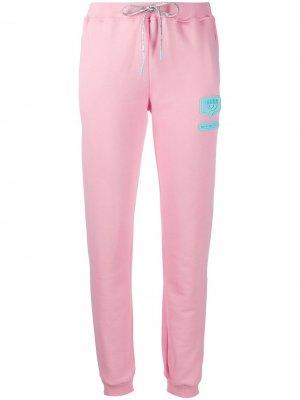 Спортивные брюки с тисненым логотипом Chiara Ferragni. Цвет: розовый