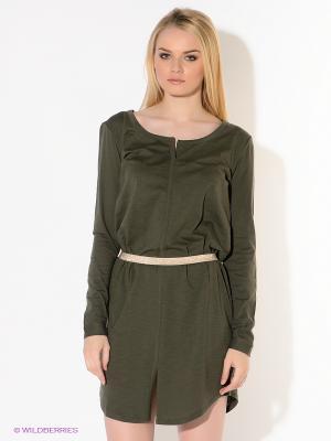 Платье American Outfitters. Цвет: хаки, золотистый
