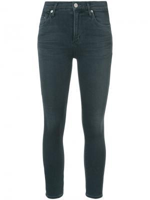 Укороченные джинсы скинни Citizens Of Humanity. Цвет: серый