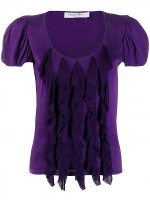 Блузка с объемными рукавами pre-owned Christian Dior. Цвет: фиолетовый