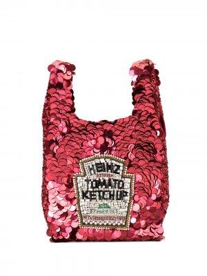 Маленькая сумка-тоут Anya Hindmarch. Цвет: красный