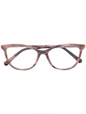 Очки в оправе кошачий глаз Swarovski Eyewear. Цвет: нейтральные цвета