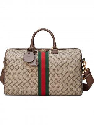 Дорожная сумка Ophidia GG Gucci. Цвет: коричневый