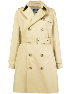 Double-breasted trench coat A.P.C.. Цвет: нейтральные цвета