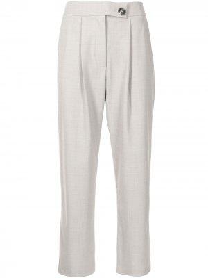 Укороченные брюки прямого кроя Anna Quan. Цвет: серый