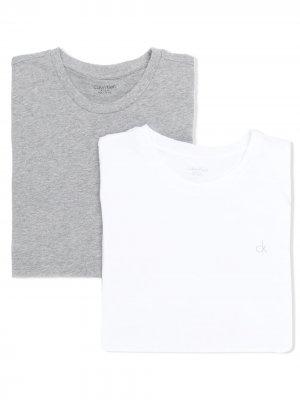 Комплект футболок с логотипом Calvin Klein Kids. Цвет: серый