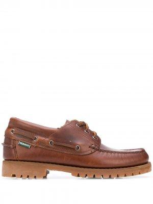 Лоферы Acadia со шнуровкой Sebago. Цвет: коричневый