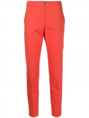Укороченные зауженные брюки с завышенной талией Fay. Цвет: оранжевый