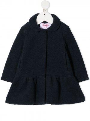 Пальто с оборками на подоле Il Gufo. Цвет: синий