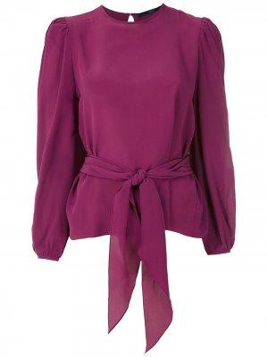 Блузка с завязками Eva. Цвет: фиолетовый