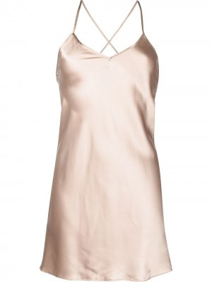 Платье мини на бретелях Michelle Mason. Цвет: коричневый