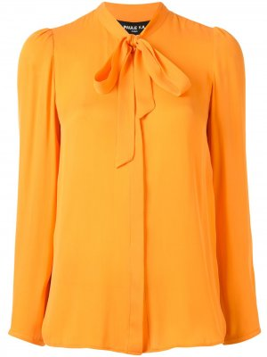Блузка с бантом Paule Ka. Цвет: оранжевый