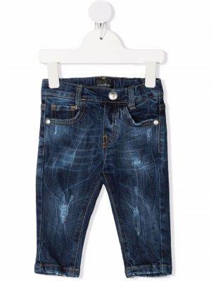 Прямые джинсы средней посадки John Richmond Junior. Цвет: синий