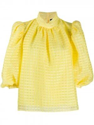 Блузка в клетку гингем Stine Goya. Цвет: желтый