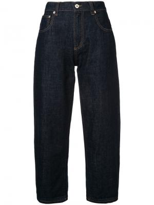 Укороченные широкие джинсы Carven. Цвет: синий