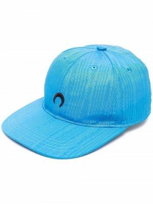 Бейсболка с вышитым логотипом Marine Serre. Цвет: синий