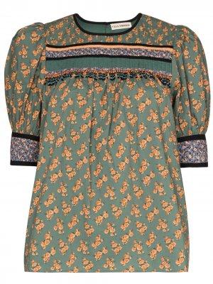Блузка Adalie с цветочным принтом Ulla Johnson. Цвет: зеленый