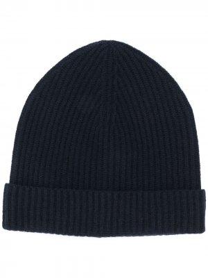 Кашемировая шапка бини Jil Sander. Цвет: синий