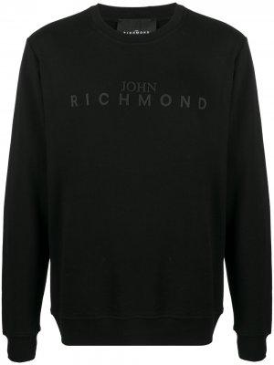 Джемпер с логотипом John Richmond. Цвет: черный