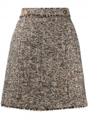 Твидовая юбка А-силуэта Seventy. Цвет: нейтральные цвета