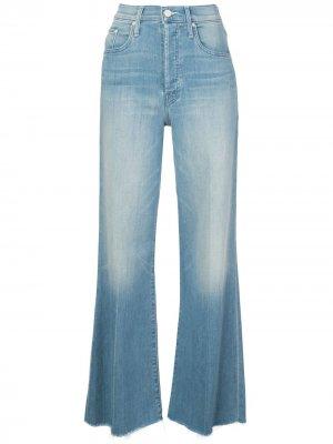 Расклешенные джинсы с завышенной талией Mother. Цвет: синий