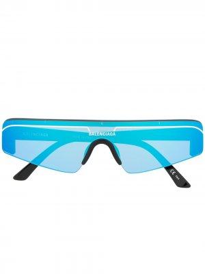 Солнцезащитные очки Ski Cat Balenciaga Eyewear. Цвет: синий