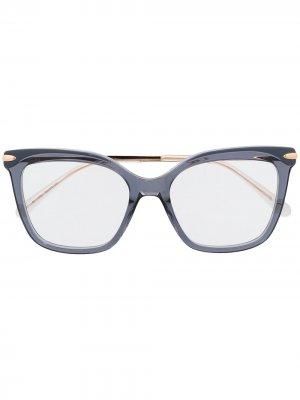 Очки в оправе бабочка Pomellato Eyewear. Цвет: золотистый