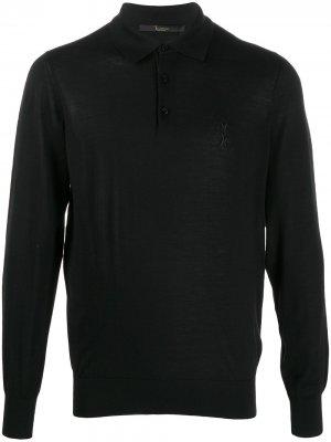 Рубашка-поло тонкой вязки Billionaire. Цвет: черный