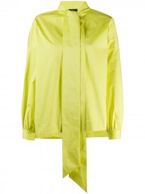 Блузка с бантом Jejia. Цвет: желтый
