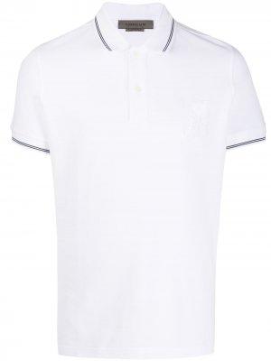 Рубашка поло с вышитым логотипом Corneliani. Цвет: белый