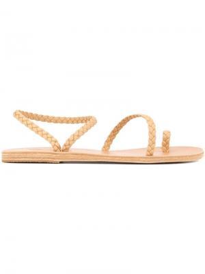 Сандалии с плетеными ремешками Ancient Greek Sandals. Цвет: нейтральные цвета