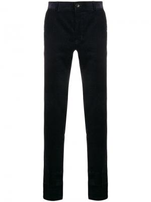 Corduroy slim-fit trousers Tiger Of Sweden. Цвет: синий