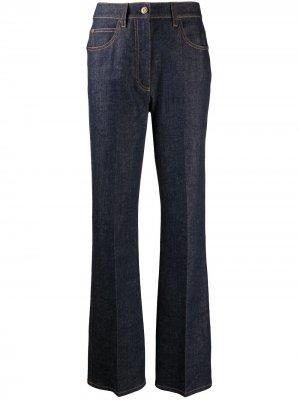 Расклешенные джинсы с завышенной талией Fendi. Цвет: синий