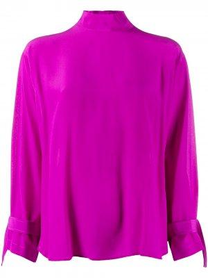 Блузка на пуговицах Jejia. Цвет: фиолетовый