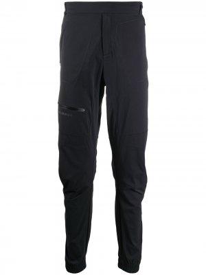 Спортивные брюки кроя слим Mammut. Цвет: черный