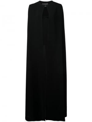 Кейп длиной до пола Monique Lhuillier. Цвет: чёрный