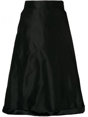 Расклешенная юбка-миди Ports 1961. Цвет: черный