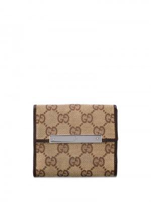 Складной бумажник GG Supreme Gucci Pre-Owned. Цвет: коричневый