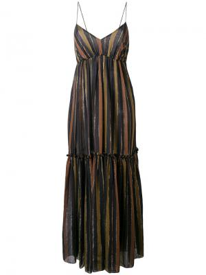 Long striped dress Zimmermann. Цвет: черный