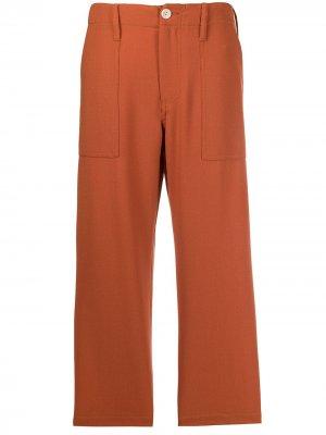 Укороченные брюки прямого кроя Jejia. Цвет: оранжевый