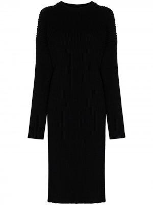 Платье-свитер с вырезом Bottega Veneta. Цвет: черный