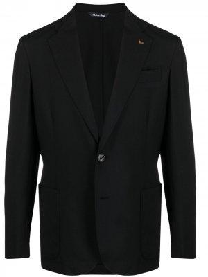 Кашемировый пиджак Colombo. Цвет: черный