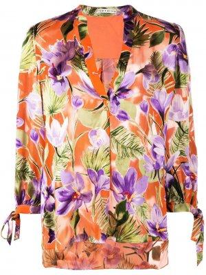 Блузка Sheila с цветочным принтом Alice+Olivia. Цвет: оранжевый