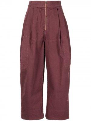 Укороченные брюки Bandini широкого кроя Rachel Comey. Цвет: красный